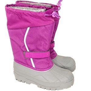 L.L. Bean NEW Girls Snow Boots Purple NWOT sz 3